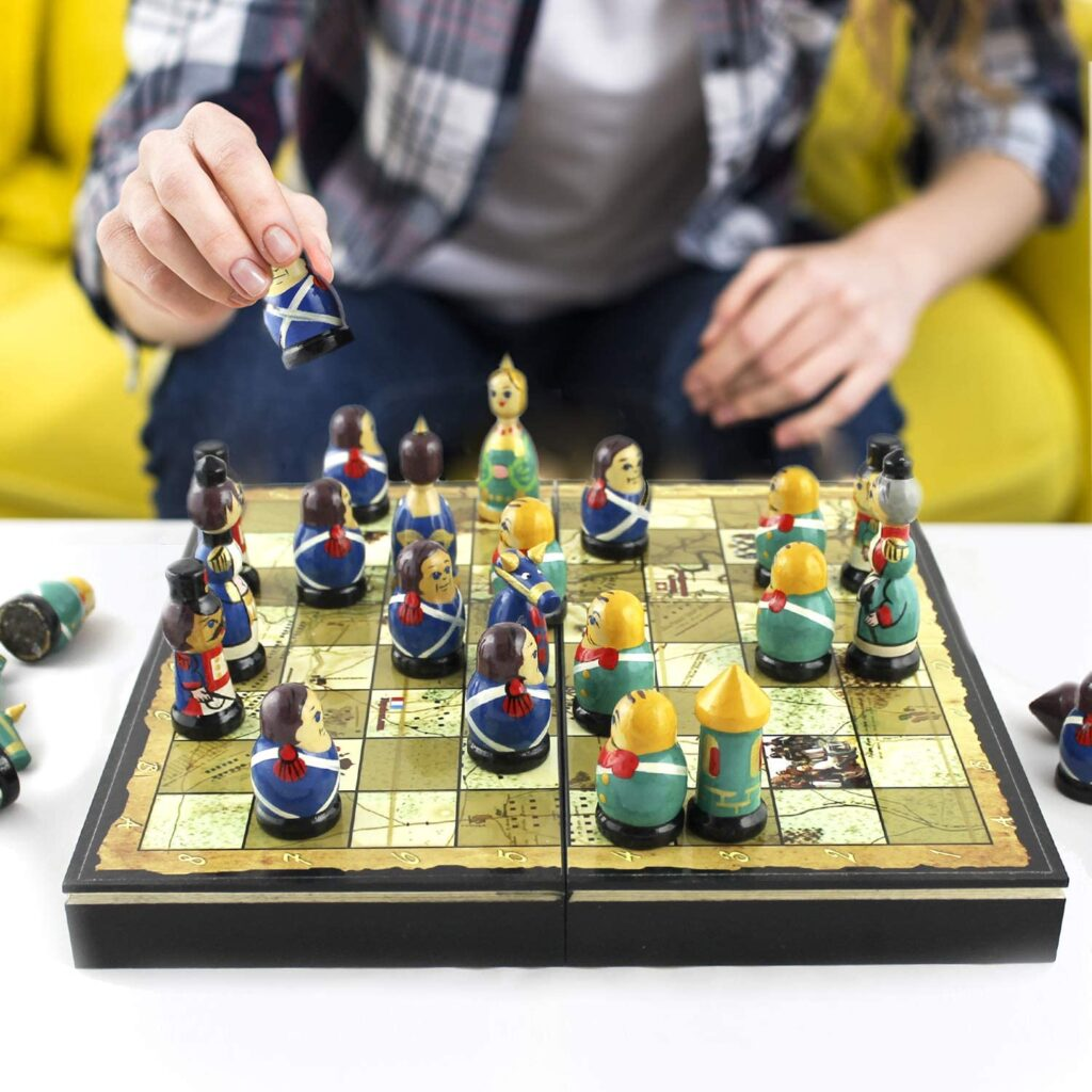 russian doll novelty chess set
